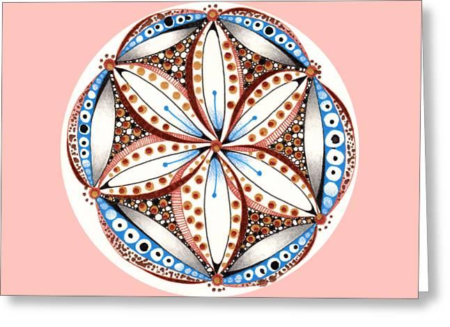 Dotted Zendala Greeting Card