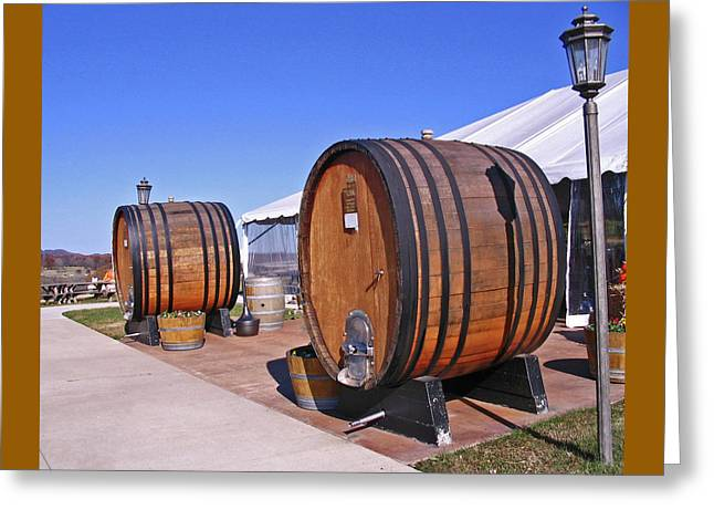 Double Barrels Greeting Card by Marian Bell