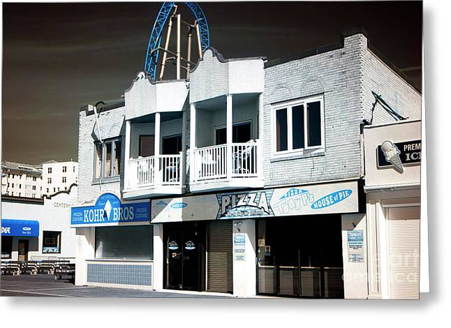 Greeting Card featuring the photograph Double Boardwalk Balcony by John Rizzuto