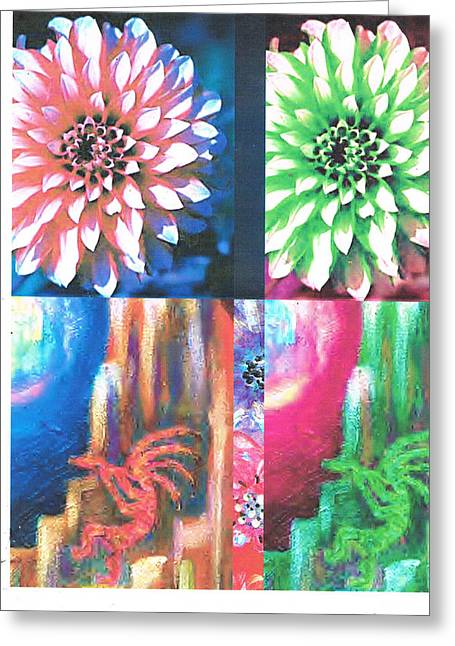 Double Color Visions Greeting Card by Anne-Elizabeth Whiteway