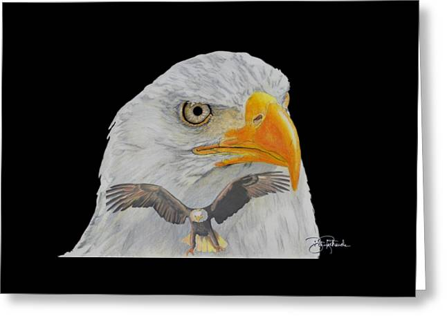 Double Eagle Greeting Card by Bill Richards
