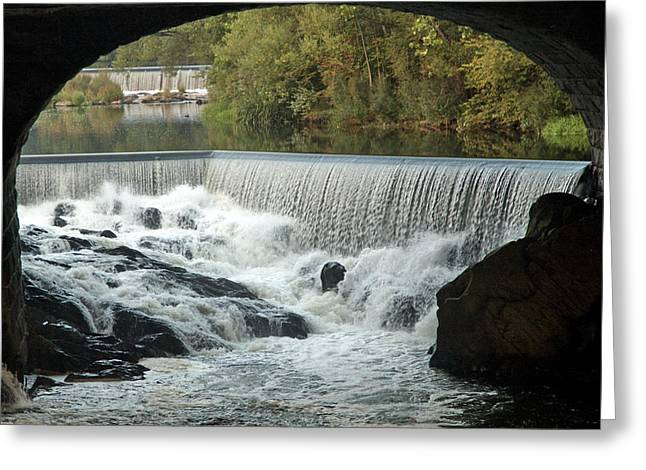 Double Falls Greeting Card