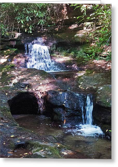 Double Falls Greeting Card by Kay Lovingood