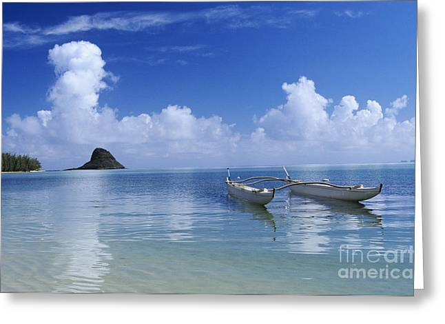 Double Hull Canoe Greeting Card by Joss - Printscapes