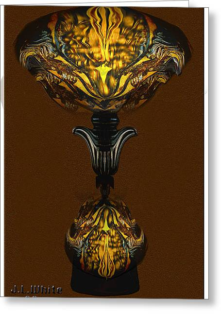 Double Lamp Greeting Card