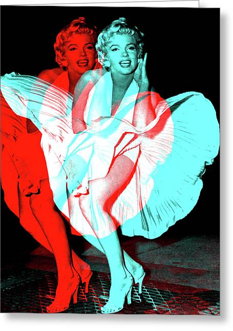 Double Marilyn Greeting Card