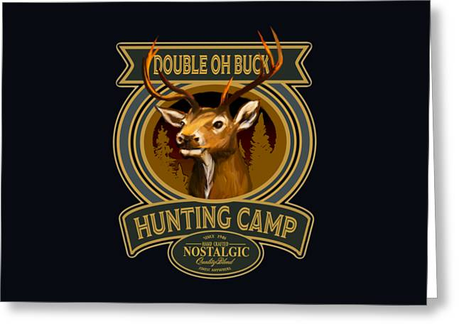 Double Oh Buck Greeting Card