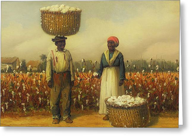 Double Portrait Of Cotton Pickers Greeting Card by William Walker