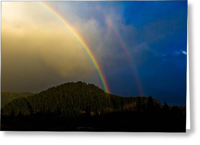 Double Rainbow Greeting Card by Danielle Silveira