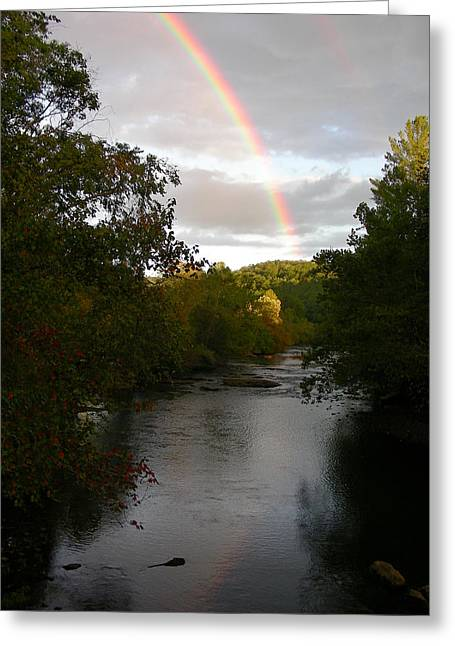 Double Rainbow Greeting Cards - Double Rainbow for Hayesville Greeting Card by Robert Walters
