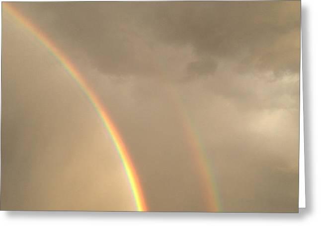 Double Rainbow Greeting Card by Jaren Johnson