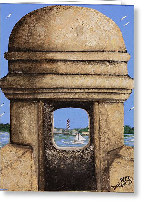 Double Sentry Greeting Card by Darlene Green