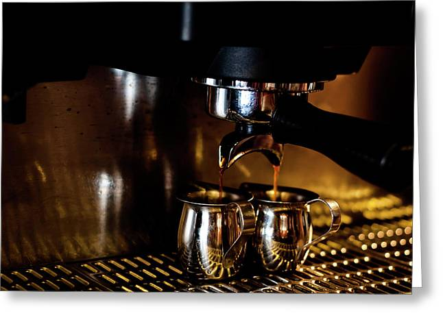 Double Shot Of Espresso 2 Greeting Card
