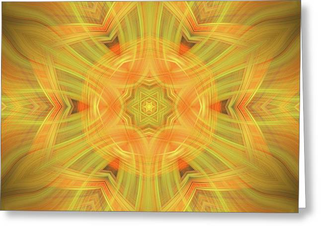 Double Star Abstract Greeting Card by Linda Phelps