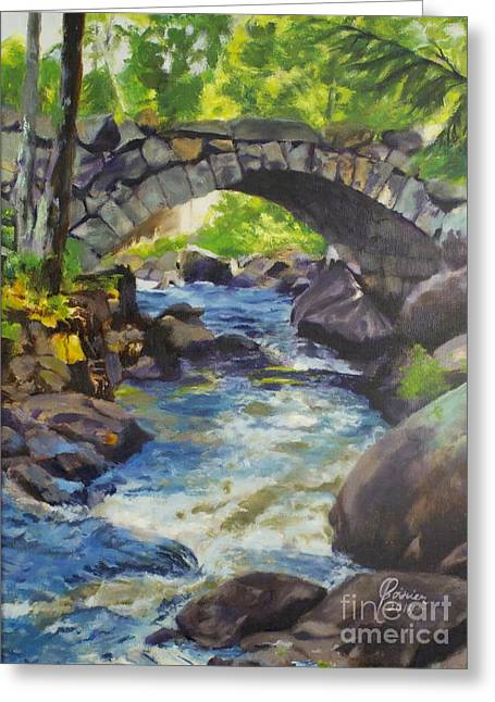 Double Stone Arch Bridge  Greeting Card