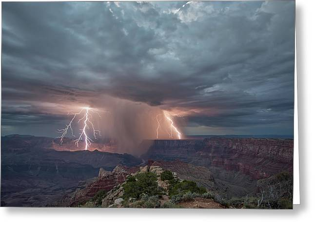 Double Strike Canyon Greeting Card