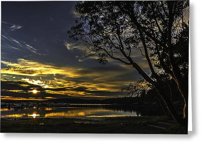 Double Sunset Roche Harbor Greeting Card by Thomas Ashcraft