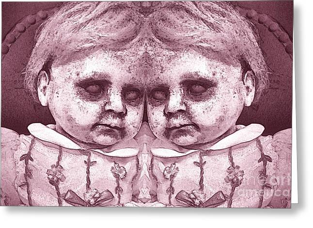 Double Trouble Two Greeting Card