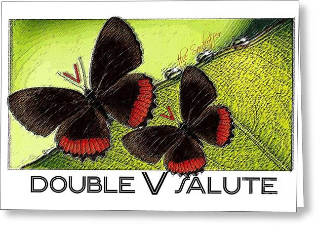 Double V Salute Greeting Card