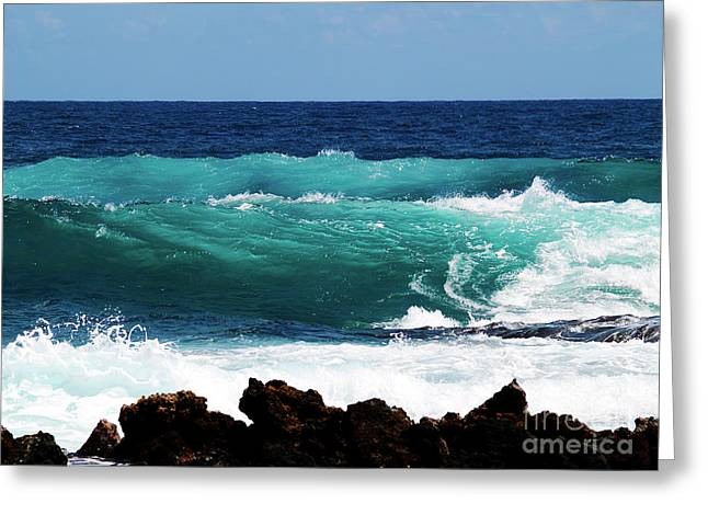 Double Waves Greeting Card
