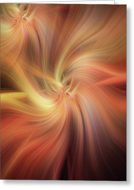 Doubled Vibrations Of Light Greeting Card by Jenny Rainbow