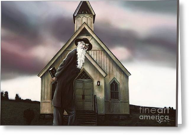 Greeting Card featuring the painting Doubt Or Faith by Dave Luebbert