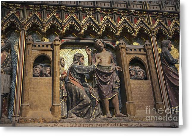 Doubting Thomas Scene Greeting Card
