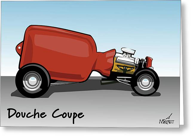 Douche Coupe Greeting Card