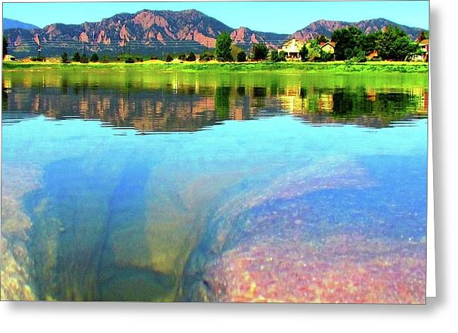 Greeting Card featuring the photograph Doughnut Lake by Eric Dee