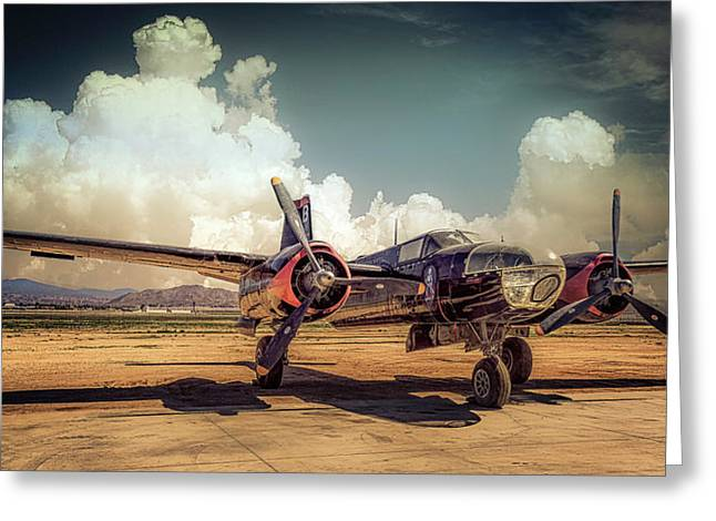 Greeting Card featuring the photograph Douglas A26 Invader by Steve Benefiel