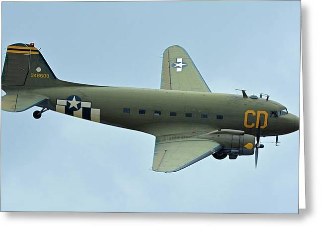 Douglas C-47b Dakota N47sj Betsy's Biscuit Bomber Chino California April 30 2016 Greeting Card by Brian Lockett