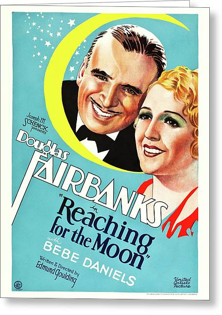 Douglas Fairbanks In Reaching For The Moon 1930 Greeting Card