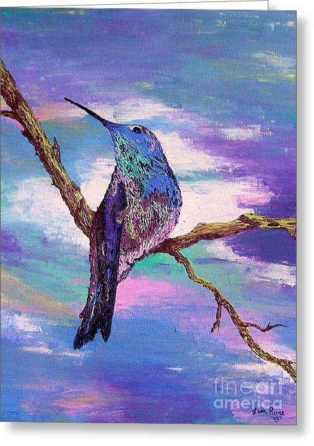 Dougs Hummingbird Greeting Card