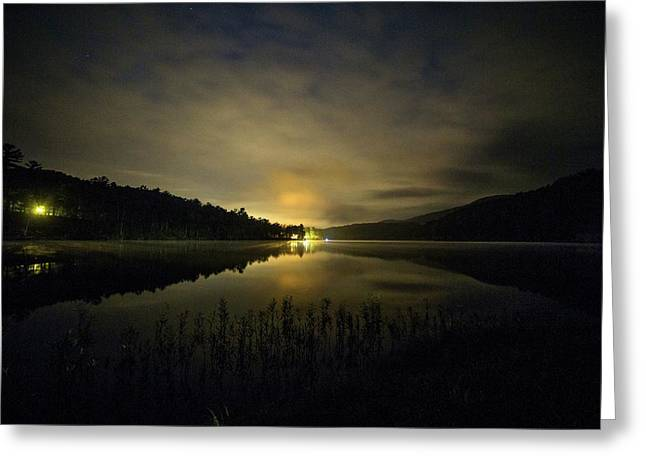 Greeting Card featuring the photograph Douthat Lake Night by Alan Raasch