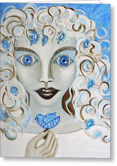 Dove Blues Greeting Card
