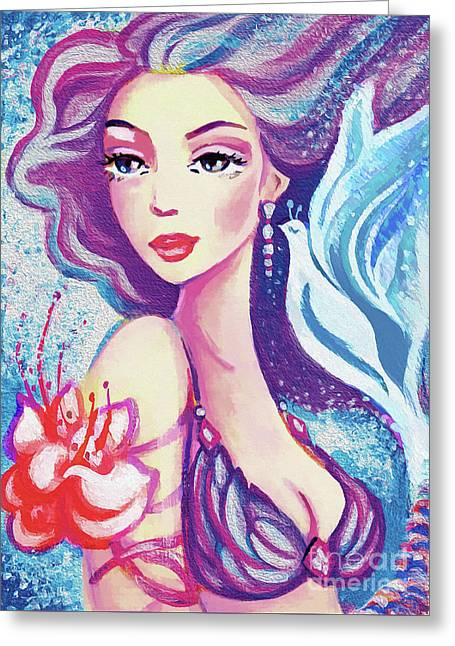 Dove Mermaid Greeting Card