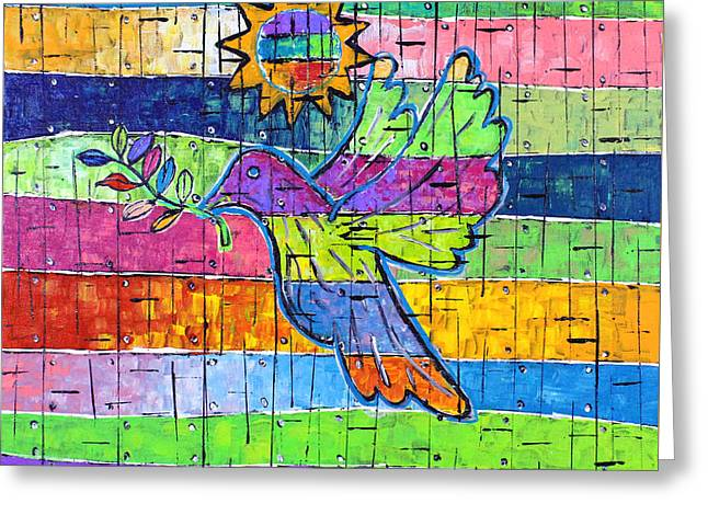 Dove Of Peace, Color And Light Greeting Card