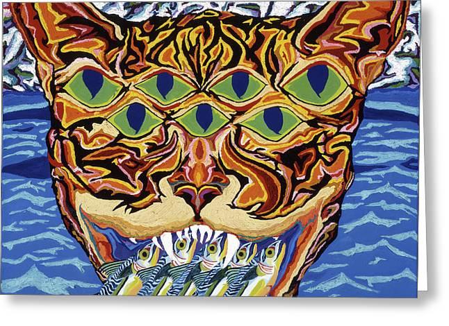 Dover Cat Greeting Card by Robert SORENSEN