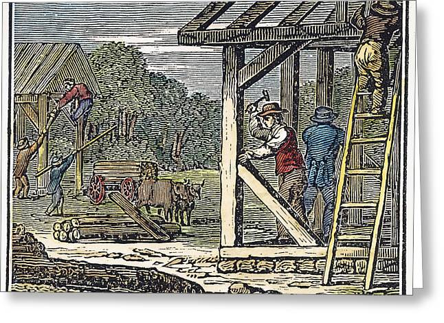 Construction Workers Greeting Cards - Dover, New Hampshire, 1623 Greeting Card by Granger