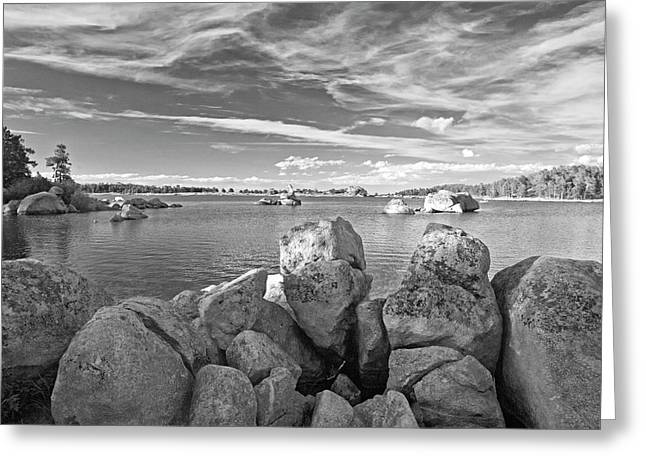 Dowdy Lake In Black And White Greeting Card by James Steele