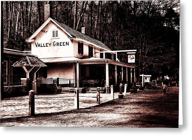 Valley Green Greeting Cards - Down at Valley Green Greeting Card by Bill Cannon