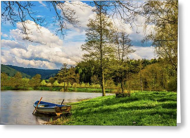 Greeting Card featuring the photograph Down By The Lake  by David Dehner