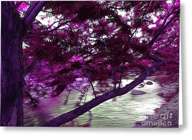 Down By The River Greeting Card by Krissy Katsimbras