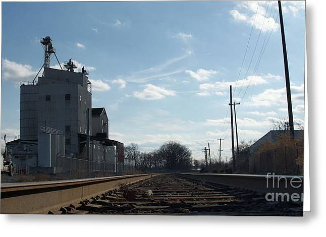 Down Low In The Tracks Near The Ol Mill   # Greeting Card by Rob Luzier
