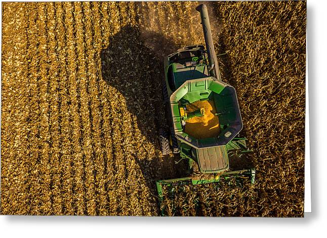 Down On The Combine Greeting Card