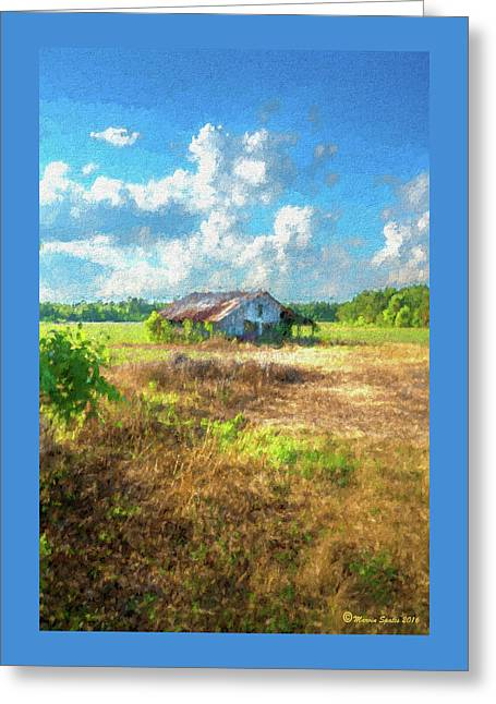 Down On The Farm Greeting Card by Marvin Spates