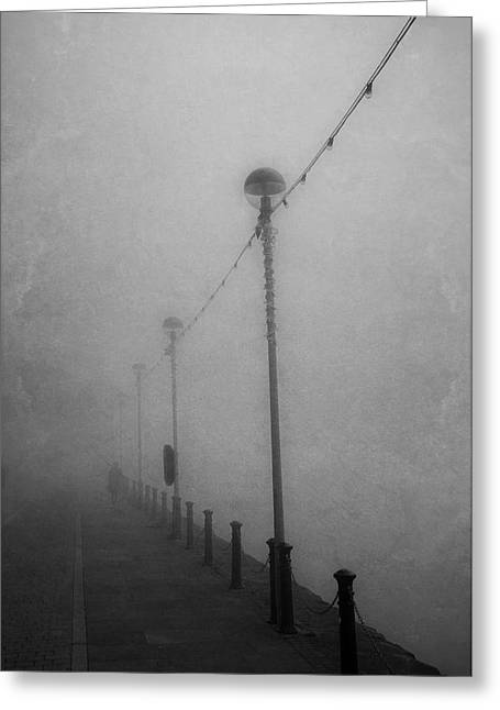 Down On The Waterfront. A Dark And Eerie Fine Art Photographic Print  Greeting Card