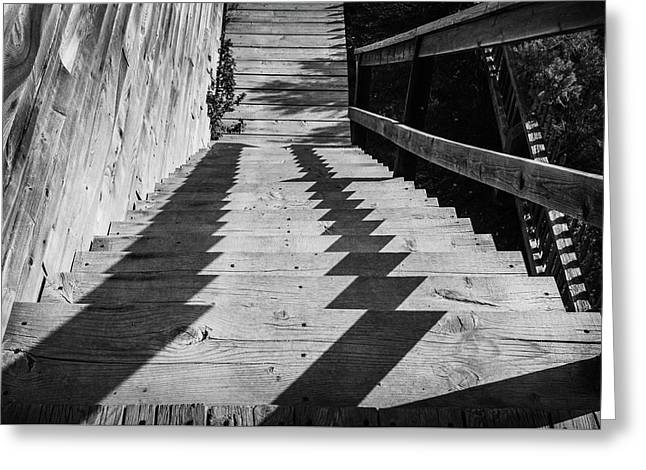 Down Stairs At Bannack Greeting Card