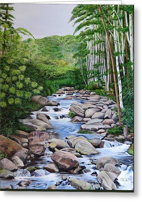 Down Stream  Greeting Card by Marilyn McNish