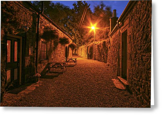 Down The Alley Greeting Card by Robert Och